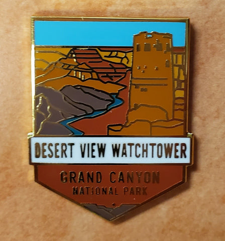 Desert View Watchtower: Grand Canyon National Park Pin