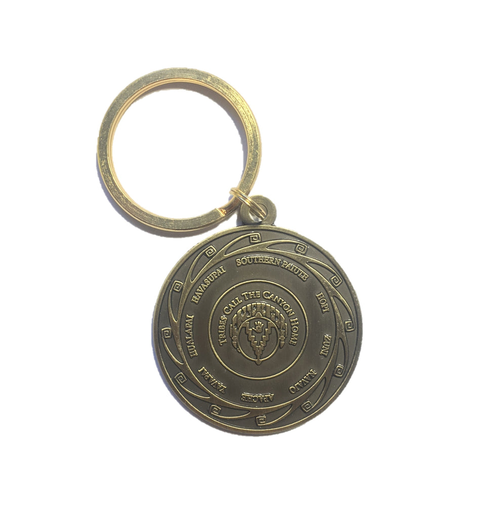 Tribal Medallion Coin Keychain