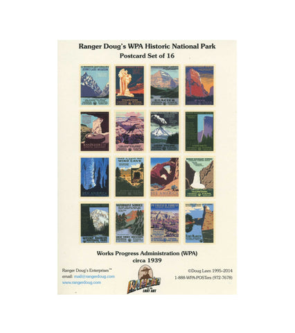 WPA Postcard Set, 16 Postcards