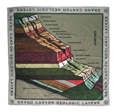 Grand Canyon Rock Layers Microfiber Bandana