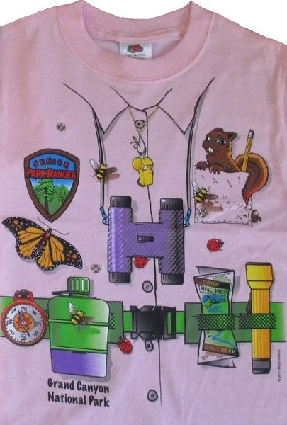 Junior Ranger Snap-on T-shirt, Pink