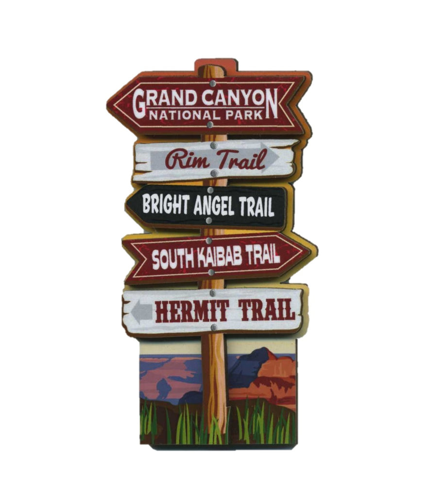 Trails Sign Post Magnet