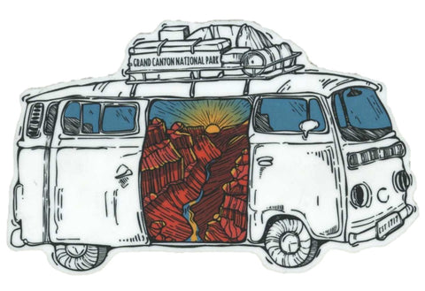 Grand Canyon Retro Van Magnet