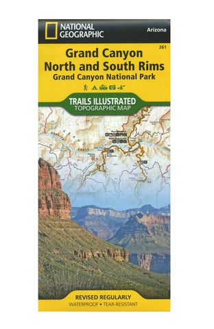 Grand Canyon North and South Rims, Nat Geo Map #261