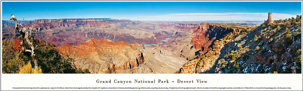 Grand Canyon Desert View Panoramic Poster