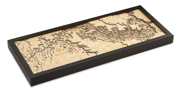 Grand Canyon National Park 3-D Wood Chart