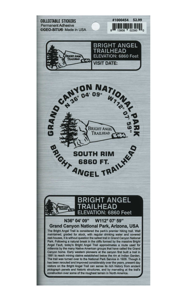 Benchmark Sticker: Bright Angel Trailhead