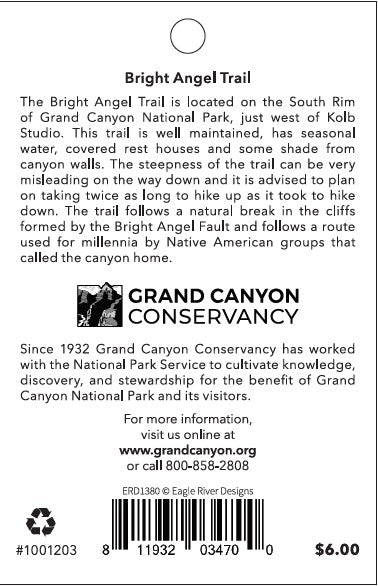 Bright Angel Trail: Grand Canyon National Park Pin