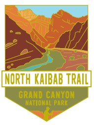 North Kaibab Trail: Grand Canyon National Park Pin
