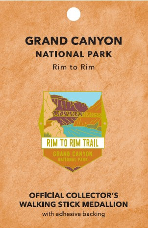 Rim to Rim: Grand Canyon National Park Walking Stick Medallion