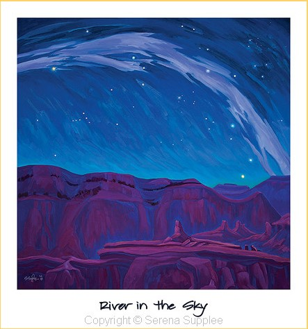Serena Supplee Print - River in the Sky