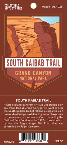 South Kaibab Trail: Grand Canyon National Park Decal