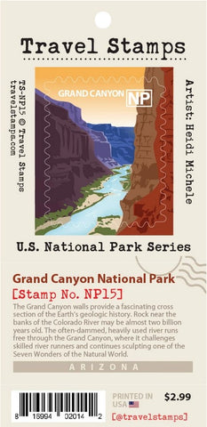 Grand Canyon Travel Stamps decal