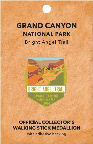 Bright Angel Trail: Grand Canyon National Park Walking Stick Medallion
