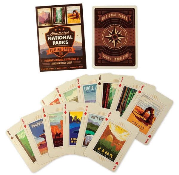 59 Illustrated National Park Playing cards