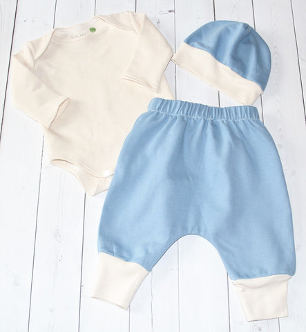 Organic Bodysuit and Harem Pants Set