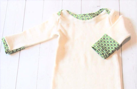 organic cotton fleece infant gown