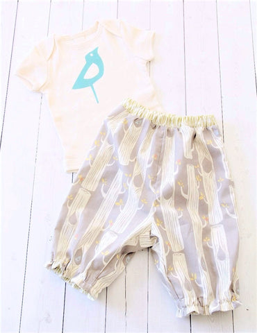 Organic Bodysuit and Bloomers Set