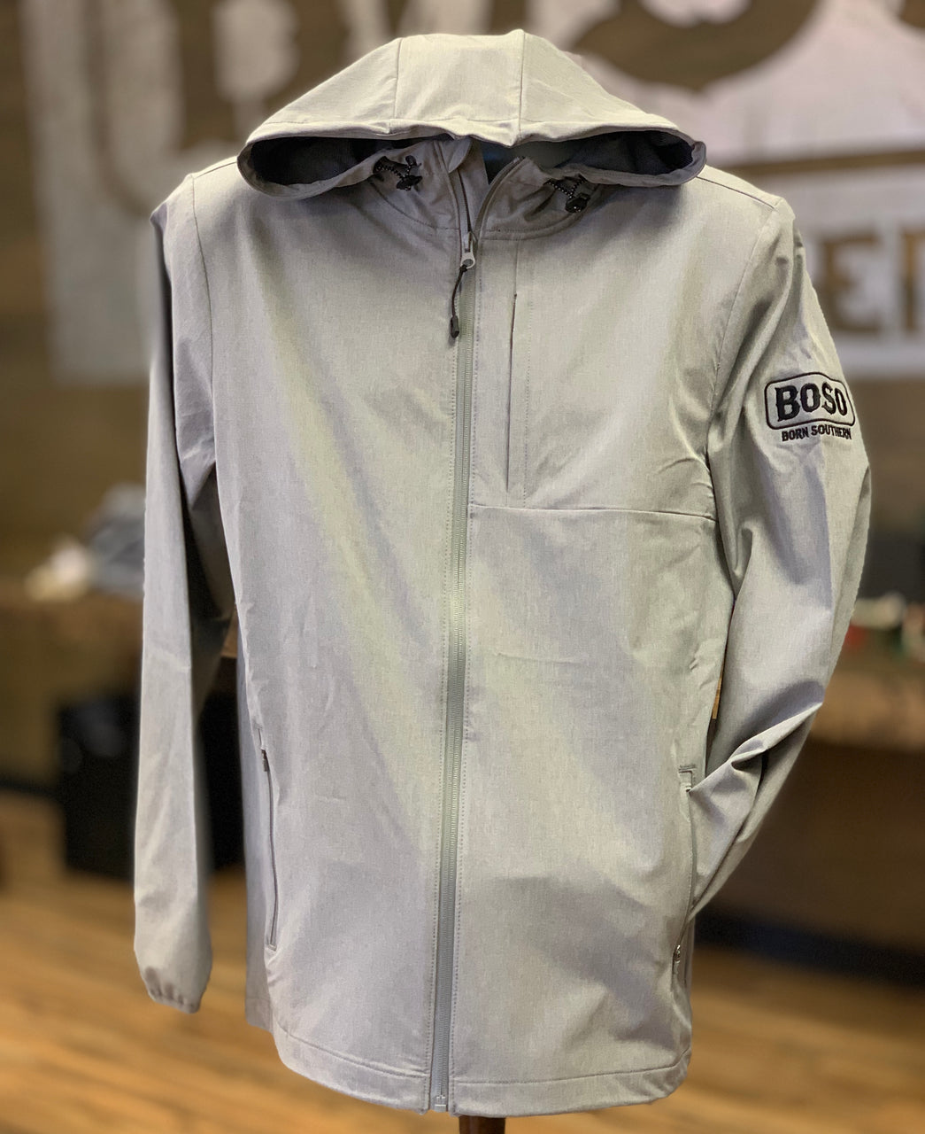 BoSo Logo Full Zip  Rain Jacket