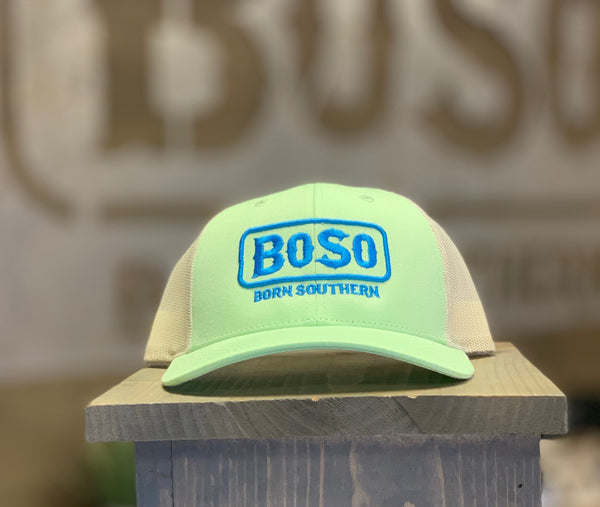Pastel Green Snapback Hat with Signature BoSo Logo