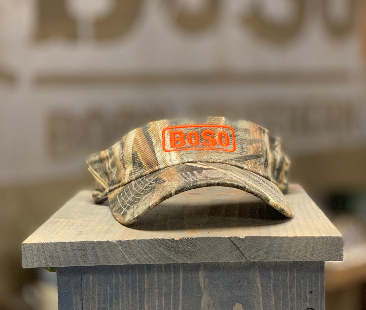 Max5 Camouflage Visor with Signature BoSo Logo
