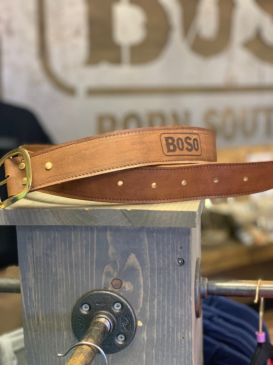 Handcrafted Leather Belt with BoSo Logo