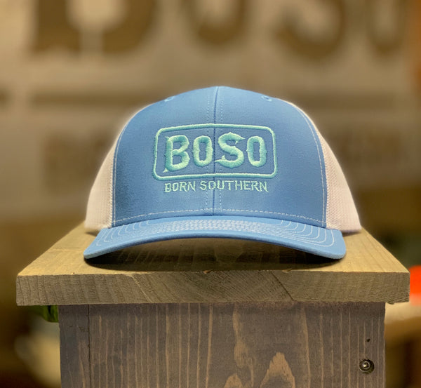 Light Blue Snapback Hat with BoSo Logo