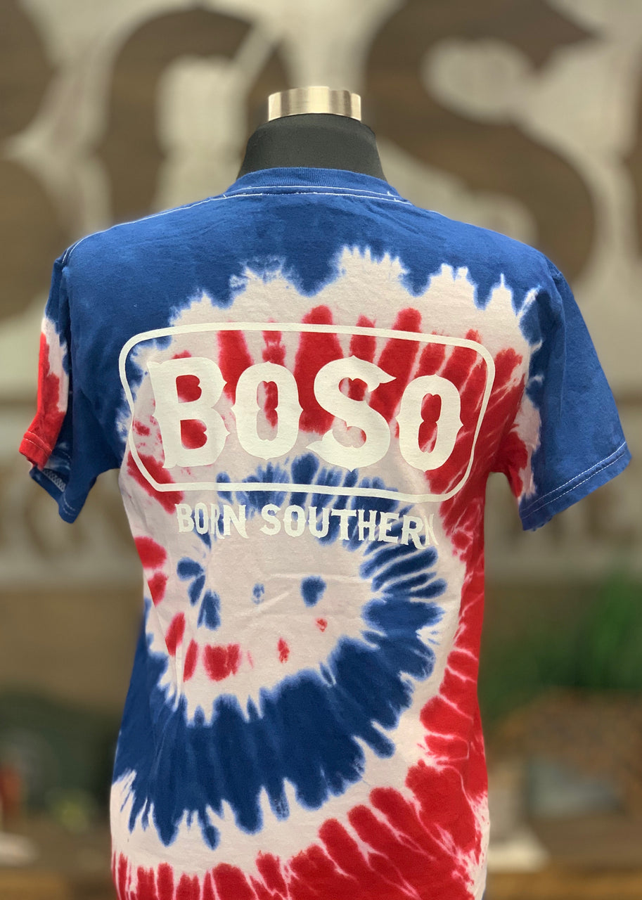 Youth Tye-Dye Red,White &Blue