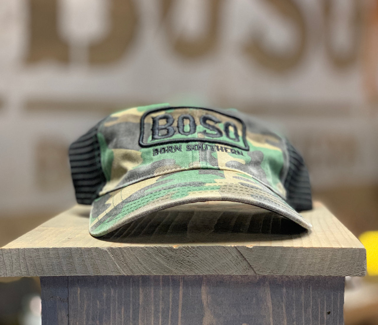 Unstructed Mesh Back Hats with Signature BoSo Logo