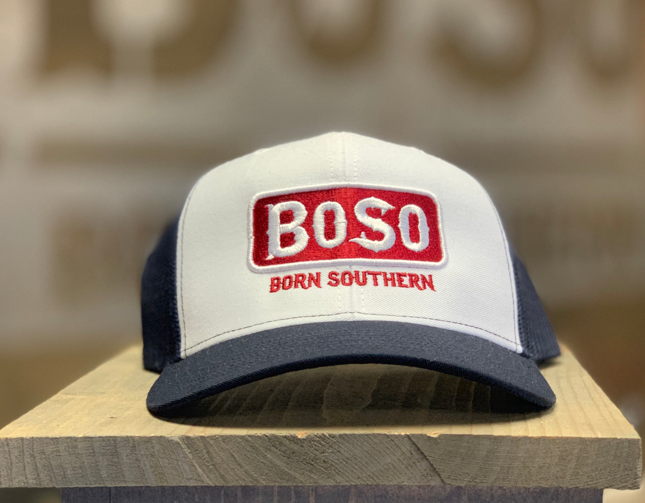 BoSo Logo Fill Hat in Patriotic Color Scheme