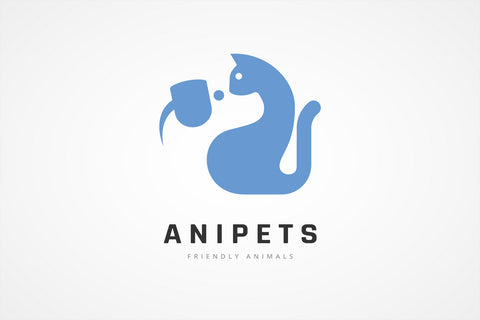 Cat and Dog Pets Logo