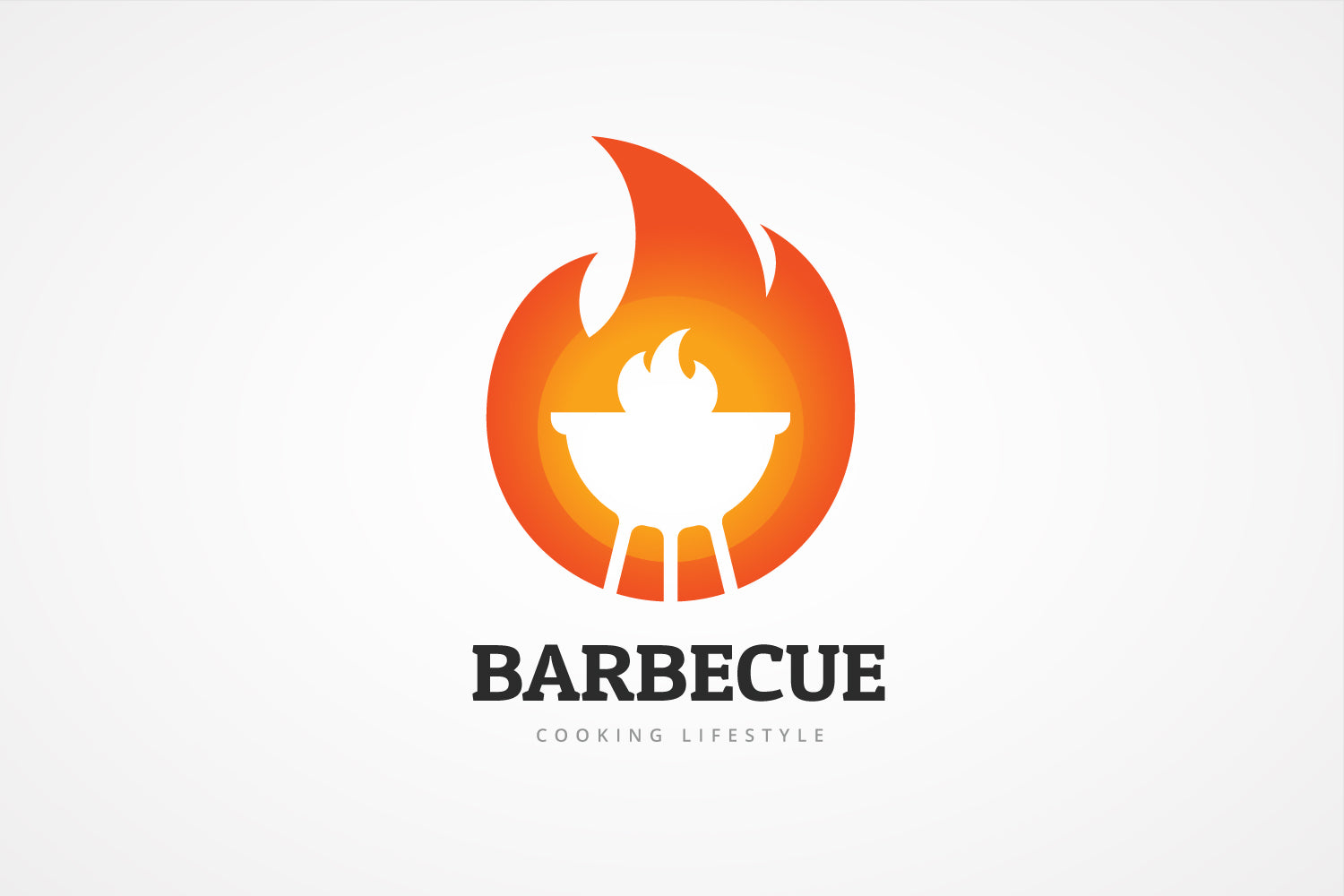 Barbecue Flame Logo