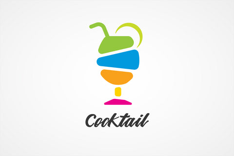 Colorful Cocktail Glass Logo