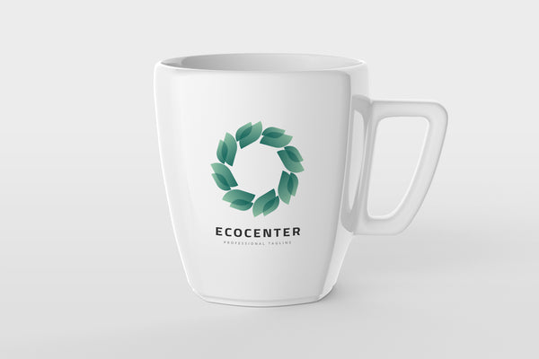 Ecology Circular Leaves Logo