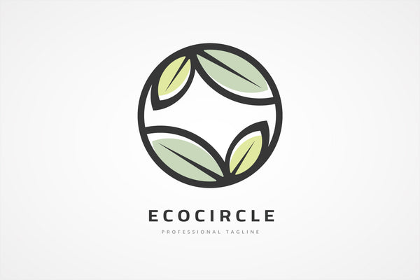 Nature Leaves Circle Logo