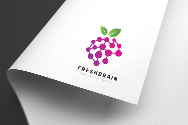 Fresh Fruit Brain Logo