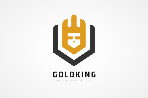Gold King Shield Logo