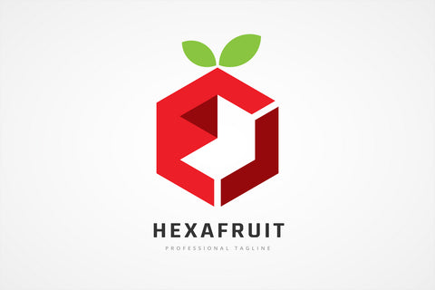 Hexagon Fruit Logo