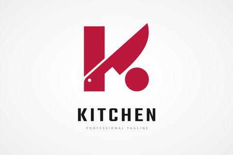 Kitchen K Letter Logo