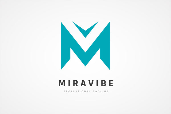M and V Letter Monogram Logo
