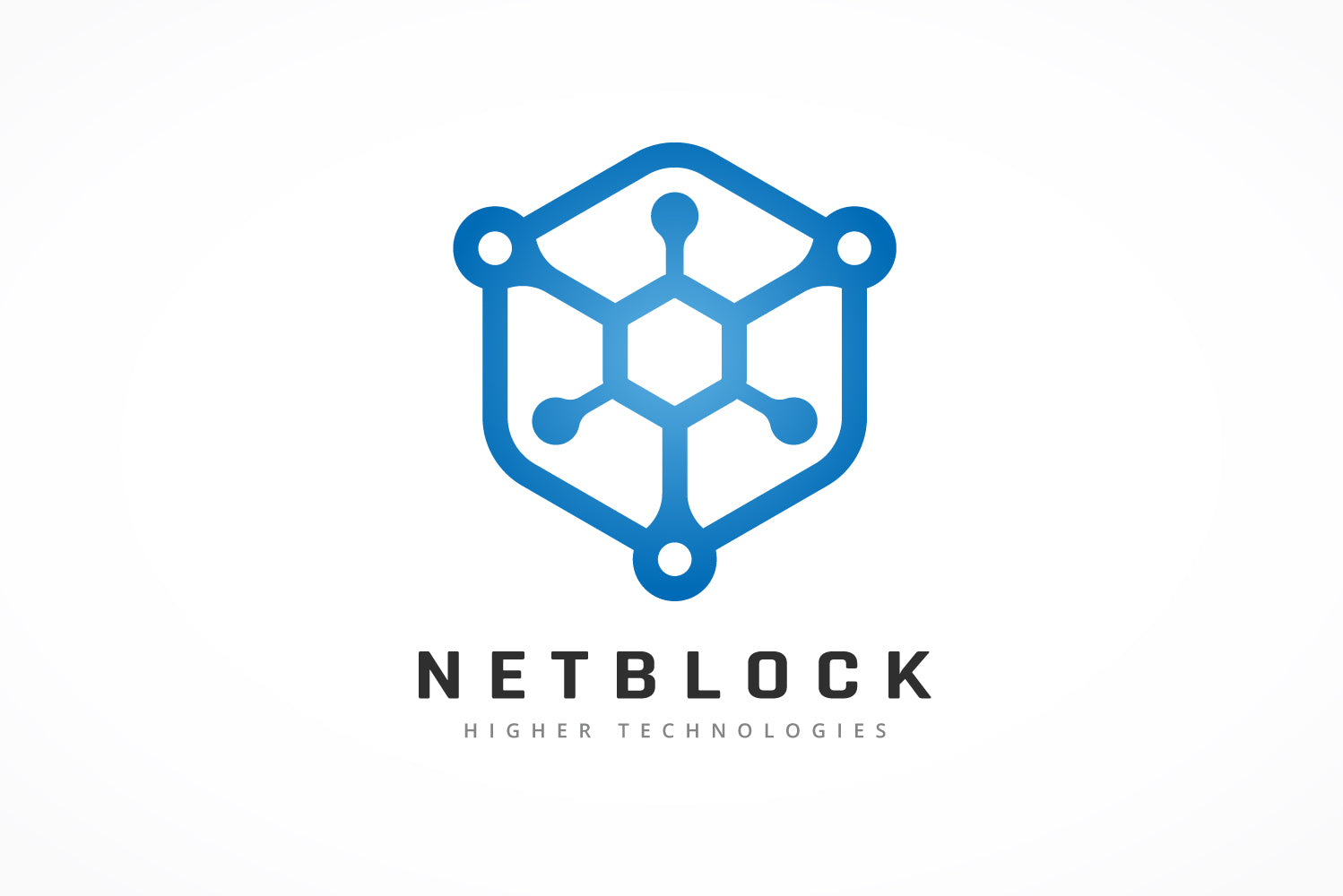 Hexagonal Network Block Logo