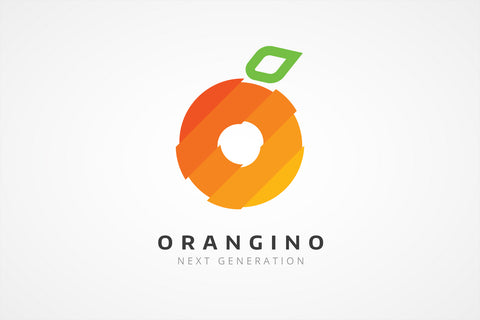 Abstract Orange Fruit Logo