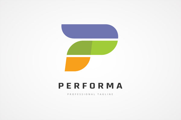 Performance P Letter Logo