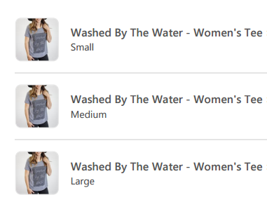 New Arrivals! Washed by the Water T's!
