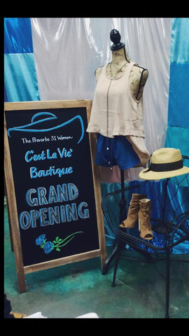 Boutique Cest La Vie Grand Opening Sign March 3, 2017