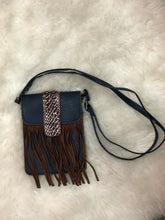 Cross Body Bag With Fringe And Snakeskin