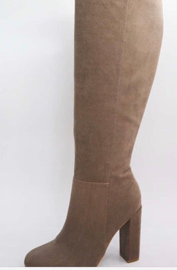 Mid Calf Boot, Taupe