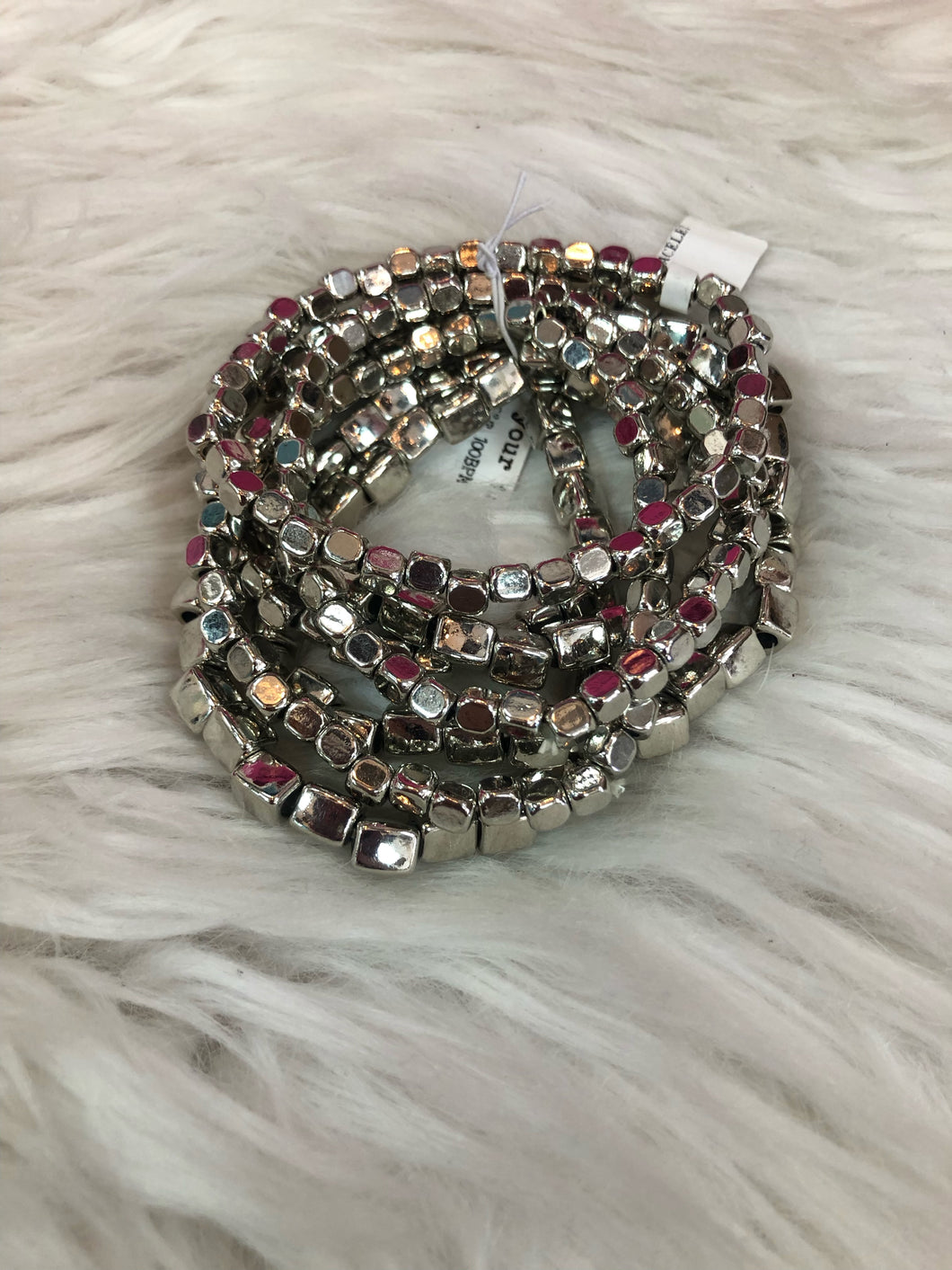 Silver Stackable Bracelets