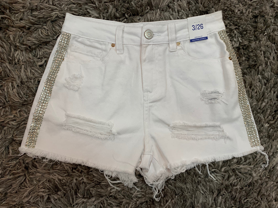Rode'o Exclusive High Rise Distressed Dream Big Shorts