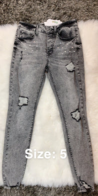 Rode'o Exclusive Trim Mid Rise Skinny Distressed